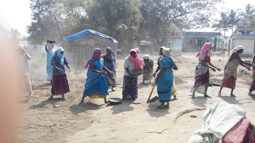 Sweeping Roads in a Village in Madur Panchayat